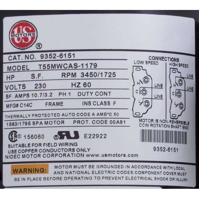 Aqua Flo Fmxp2 2 5 Hp 230 Volt 48 Frame 2 Speed Pump