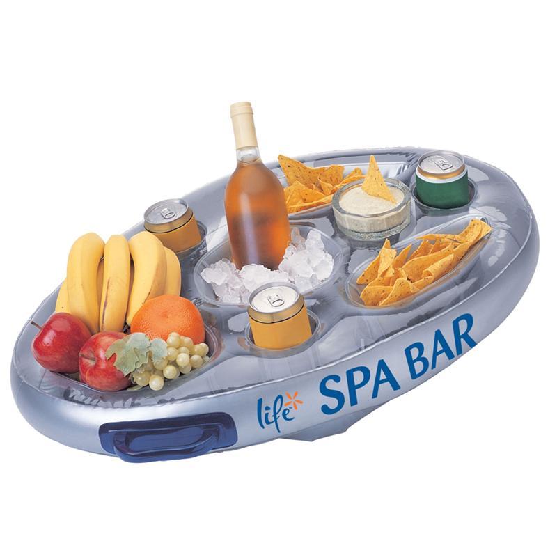Life spa floating bar for Bar gonflable pour piscine